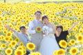 家族と咲いた笑顔のひまわり。