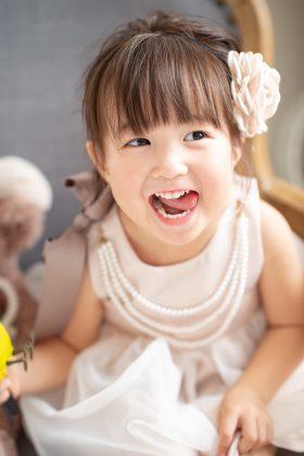 可愛い笑顔は家族の宝物